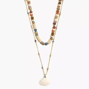Madewell x Warm Beaded Shell 🐚 Necklace NWT